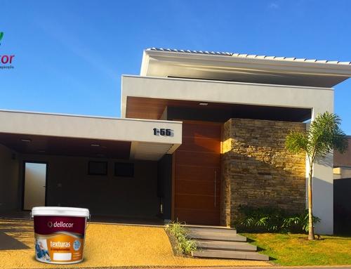 Casa com Textura quartzo branca no Spazio Comendador