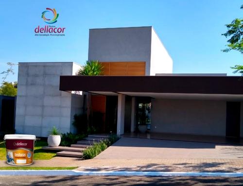 Casa com Textura Quartzo Dellacor no Villa Dumont
